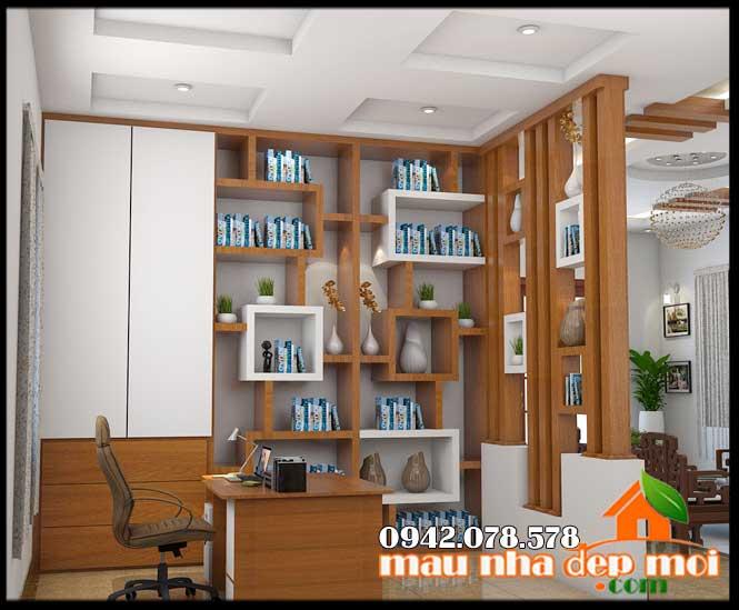 mẫu nội thất phòng làm việc đẹp cho nhà cấp 4 mái thái 190m2