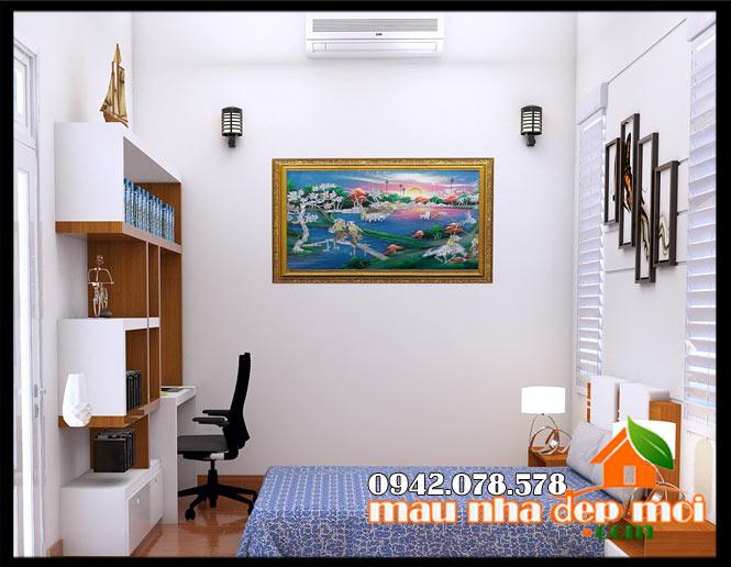 mẫu nội thất phòng ngủ bé trai nhà cấp 4 8x17m đẹp